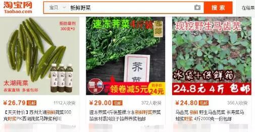 偏门生意:通过淘宝卖农村的野菜,月收入过万